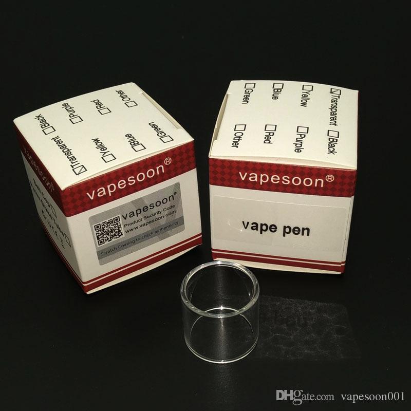 New arrival vapesoon replacement vape pen 22 glass tube for smok vape pen 22 tank retail package DHL