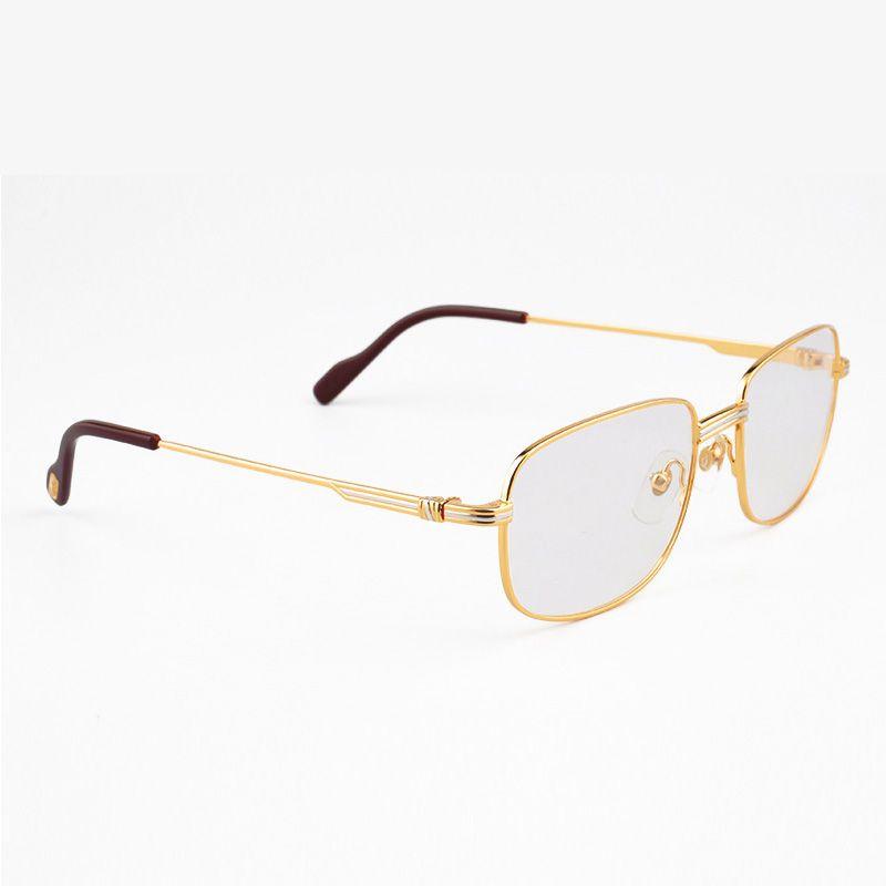 Fashion Metal Eyeglasses Luxury Men Style Glasses 18k Gold Frames Hd ...