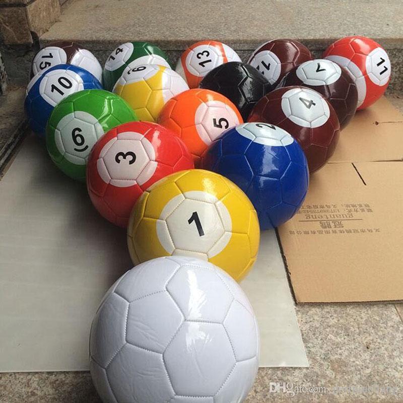 3# 7 Inch Inflatable Snook Soccer Ball Billiard Ball Snooker Football For Snookball Outdoor Game Gift ZA3854