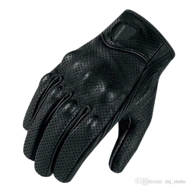 Moto Racing Gloves Perforated leather Motorcycle glove vintage leather gloves men women motocross glove S M L XL XXL size