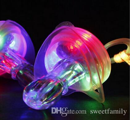 Dhl LED Flashing Pacifier Whistle Party Supplies Fun Toy Survival Tool Flash Glow Sticks Bar