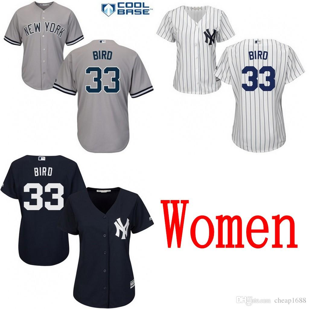 ... Jersey Womens New York Yankees 33 Greg Bird Majestic Cool Base Gray  Navy Blue White Road Stitched ... 01ee75bb144