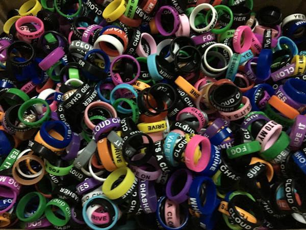 Decorativo y protección mod vape band logo silicona personalizado caucho vape anillos ecig silicona vape anillo