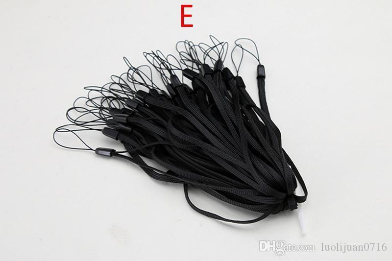 النايلون المعصم اليد الهاتف الخليوي سلسلة الأشرطة المفاتيح سحر الحبال diy شنق حبل الوهق الحبل لمفاتيح الكاميرا mp3 mp4 id حامل