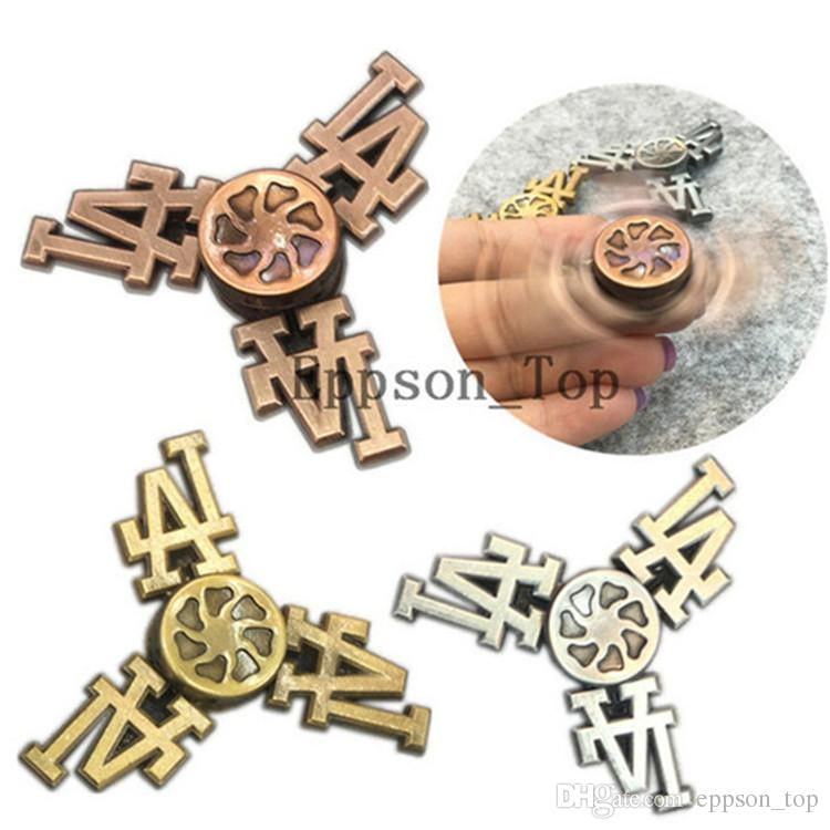 La Fid Spinners Metal Gold Bearing Anti Stress Cube Hand Spinner