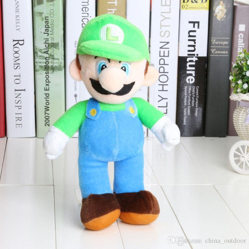 10 '' Nouveau Haute Qualité / Super Mario Bros Stand MARIO LUIGI Peluche Jouets Peluches Poupée