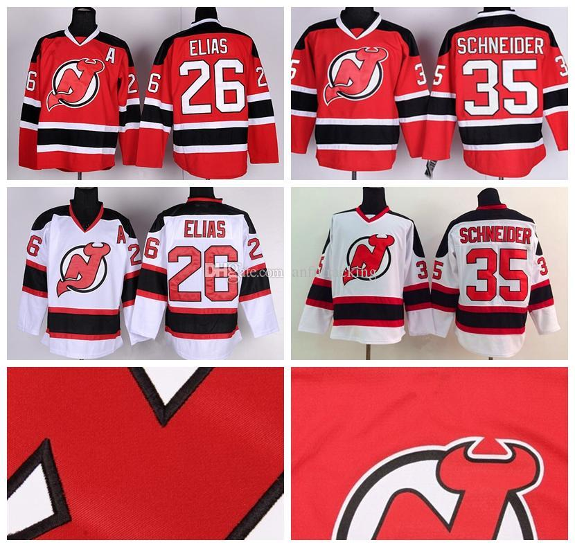 ... Authentic White Away NHL Jersey 2017 New Jersey Devils Hockey Jerseys  Ice 6 Greene 26 Patrik Elias 14 Adam Henrique 19 . 2ae17e558