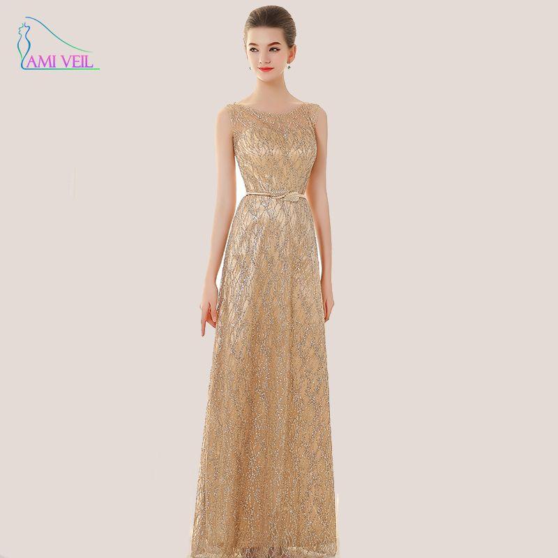 Sequin Blue Gold Formal Evening Gowns Plus Size Evening Dresses Long ...