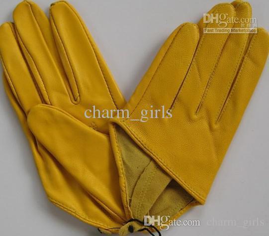 2017 nieuwe mode kleurrijke sex en de stad halve palm korte handschoen mode 5-vinger half lederen handschoenen 10 paren / partij