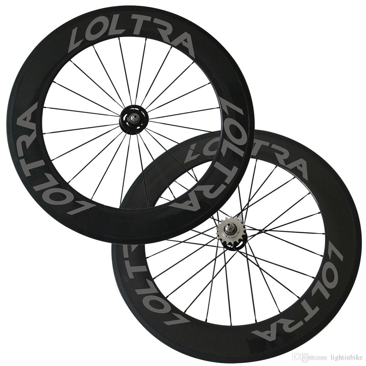 88mm Clincher Tubular Track Bike Wheelset Carbon wheels Track Bike Wheels Fixed Gear Free Gear Single Speed Bicycle Wheelset