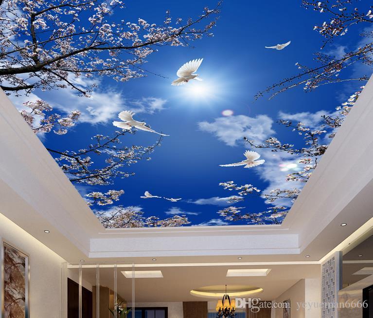 3d Ceiling Murals Wallpaper Customize Wallpaper For Walls