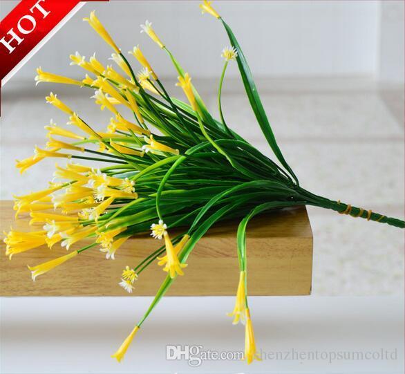 7 Ramo flor de lírio artificial falso plantas Aquáticas decoração de casa acessório do quarto flor do casamento 5 cores