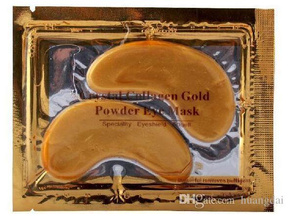 Новый коллаген Кристалл маски для глаз анти-отечность увлажняющий глаз маски анти-старения маски коллаген золотой порошок маска для глаз