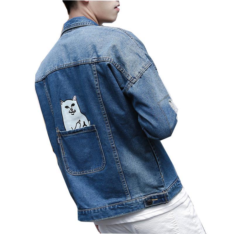 Blue denim jacket men