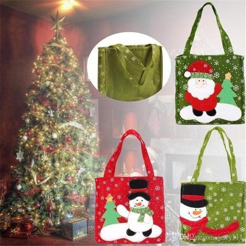 wholesale christmas gift bags christmas decorations christmas candy bag santa claus gift bags santa bags 4 designs la324 2 country christmas decorations - Wholesale Country Christmas Decor