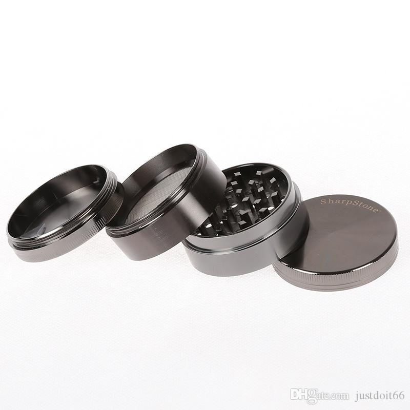Wholesale Best Metal Sharp Stone Herb Grinders Clear Lids Smoking Tobacco Grinder 40mm 50mm 55mm 63mm For Dab Rigs 5915-18s