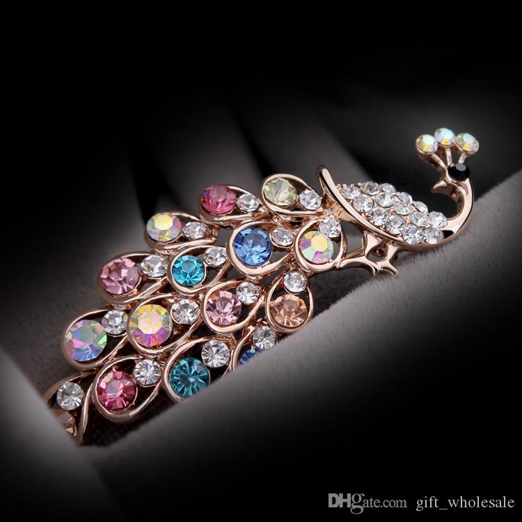 700ef0caa 2019 Newest Charming Crystal Rhinestone Peacock Brooch Jewelry Gifts  Decorations Pin Brooch Wholesale 2017 From Gift_wholesale, $2.32    DHgate.Com