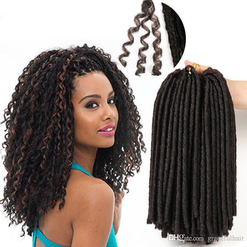 Soft Dreadlocks Crochet Braid Hair Extensions Ombre Braiding Hair