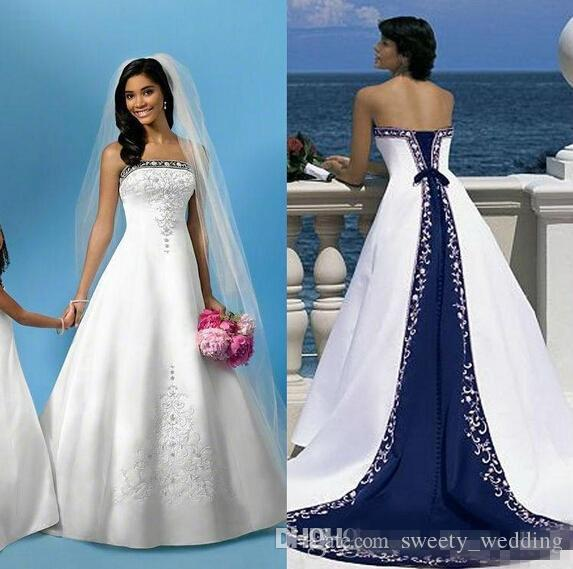 Vestido de novia blanco y