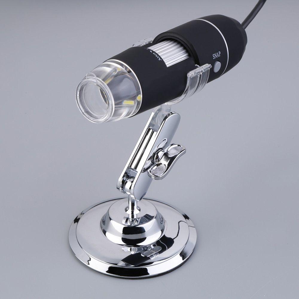 2 UNIDS Práctica Electrónica 2MP USB 8 LED Cámara Digital Microscopio Endoscopio Lupa 50X ~ 500X Ampliación Medida Cámara de Video