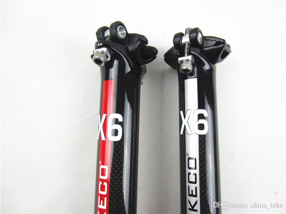 BIKECO bicicleta de carbono selim de carbono MTB / road bicicleta tubo do assento do vento de quebra selim 27,2 / 30,8 / 31,6 * 350 milímetros frete grátis