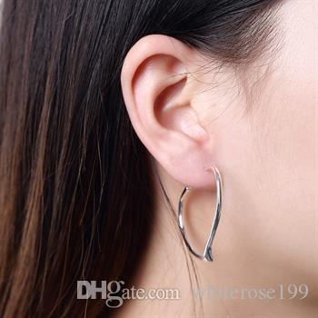 Wholesale - lowest price Christmas gift 925 Sterling Silver Fashion Earrings E028