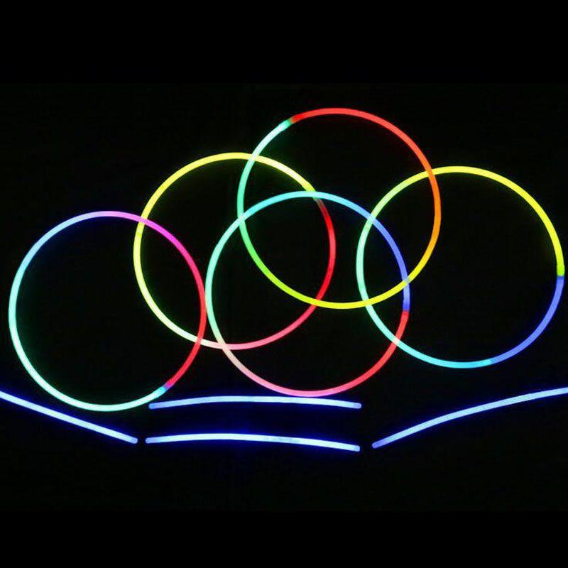 58cm Long Glow Sticks Necklaces Party Fluorescent Neon Colors Xmas Party Wedding Christmas Concert Decoration ZA3574