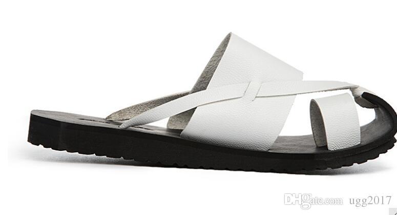Zapatillas de verano para hombre zapatos con punta Y3 black warrior beach arrastre sandalias versión coreana informal de las zapatillas de cuero masculinas