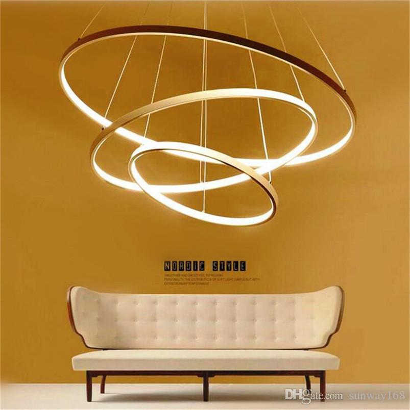 Modern Circular Ring Pendant Lights 3 2 1 Circle Rings