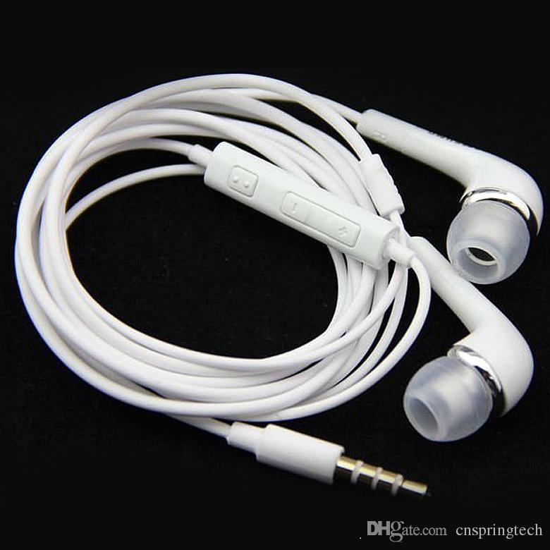 Fones de ouvido originais 3.5mm fone de ouvido no ouvido fone de ouvido estéreo fones de ouvido com controle de volume mic remoto para samsung galaxy s6 s6 s4 s5 nota 5