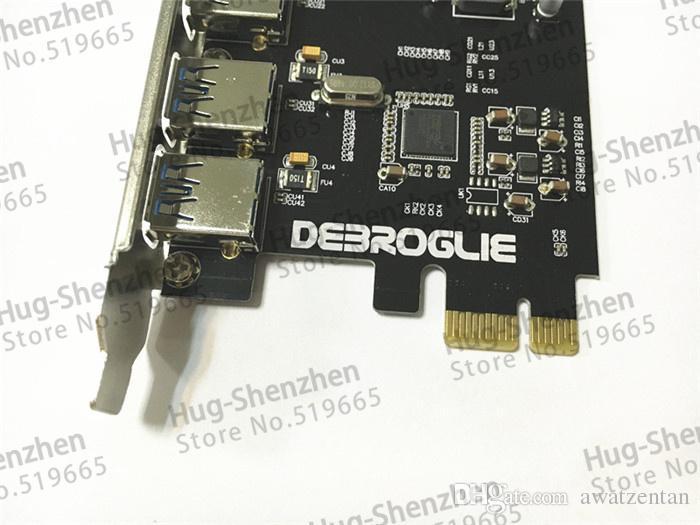 Adattatore scheda di controllo PCI Express PCIE USB 3.0 ad alta velocità 4 porte Pannello anteriore MAC PRO 3.1-5.1 / OSX 10.8 10.9 10.10 10.11 10.12 10.13 10.14