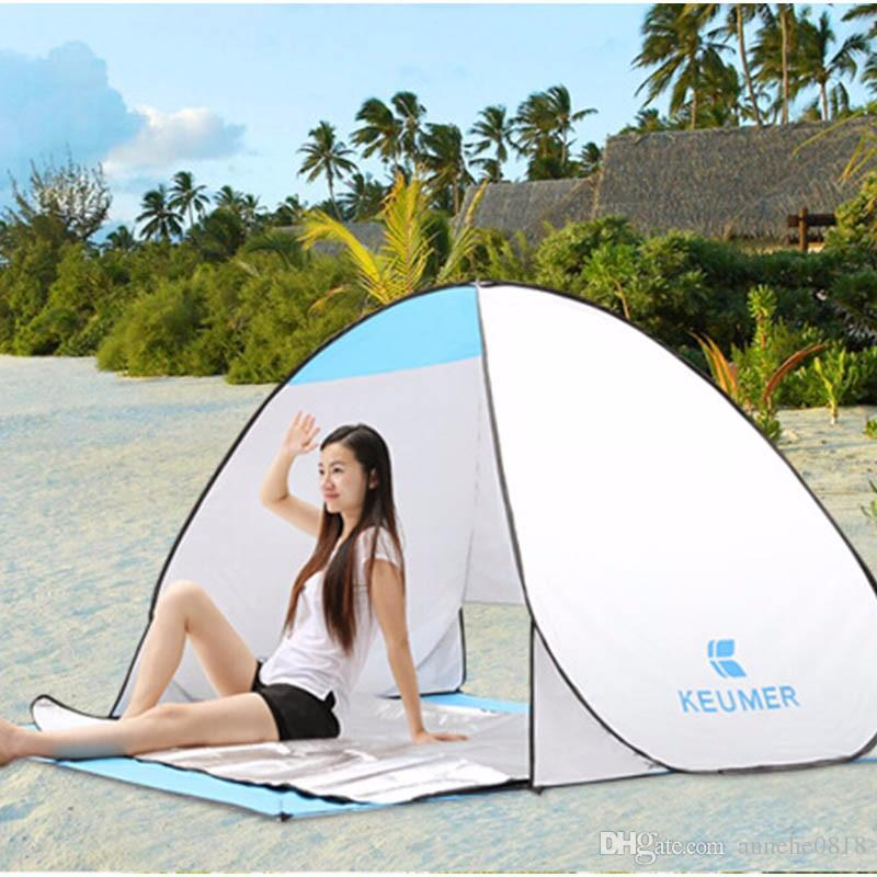 Summer Outdoor Tent Popup Beach Cabana Sun UV Automatic Protection Cover For 1 - 2 Person Picnic Camping Fishing