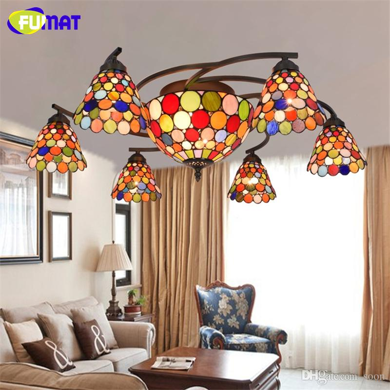 2018 Fumat Colour Stained Glass Ceiling Lamp Artistic Lights For Living Room Hande Made Art Light From Soon 537 69 Dhgate Com