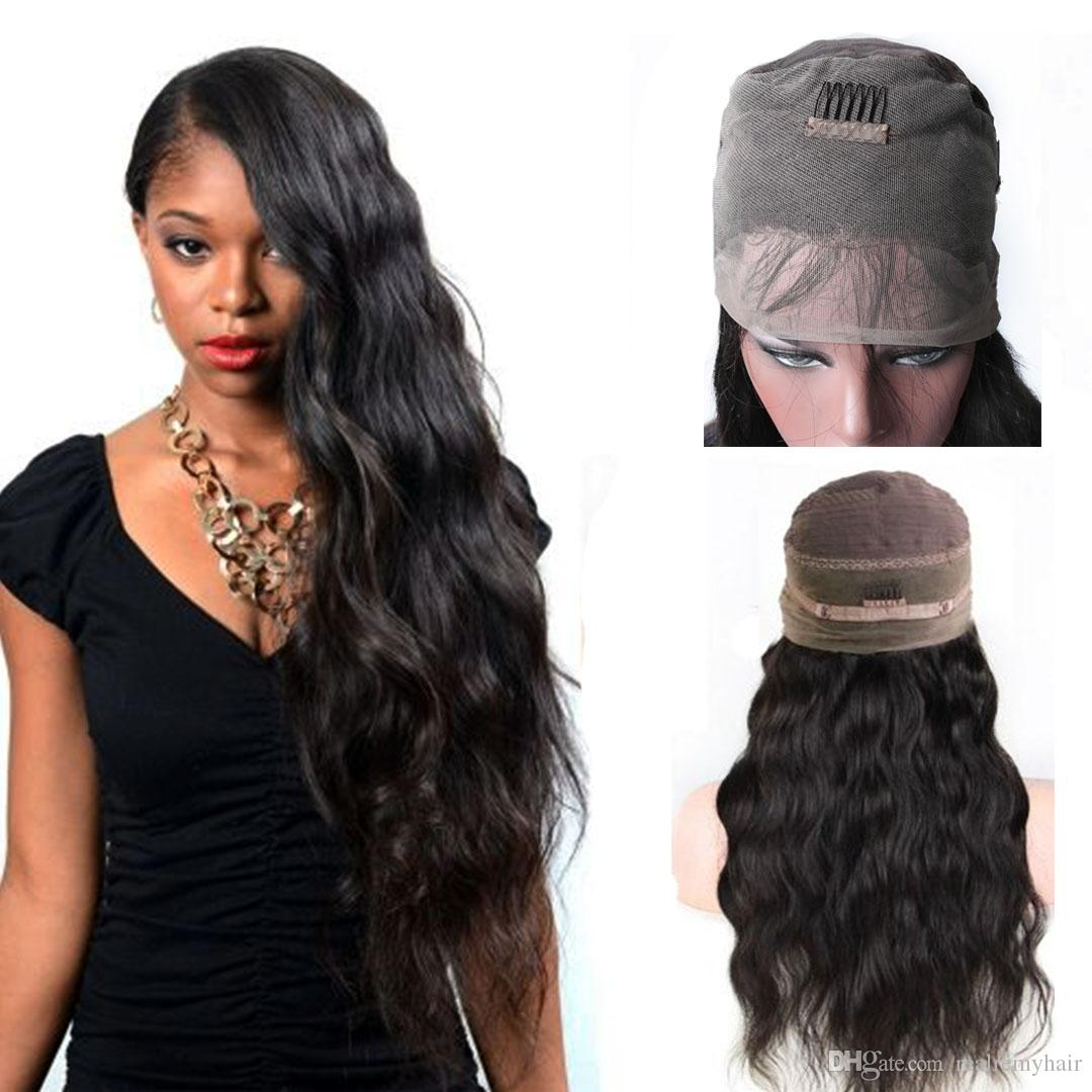 Brazilian Body Wave 360 Lace Frontal Wigs With Baby Hair Pre Plucked  Brazilian 360 Lace Frontal Human Hair Wigs For Black Women Full Lace  Synthetic Wig Hair ... ac0b9ebd3