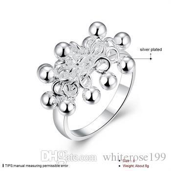 Hurtownie - detaliczna najniższa cena prezent świąteczny, darmowa wysyłka, nowy pierścień mody 925 srebrny R016