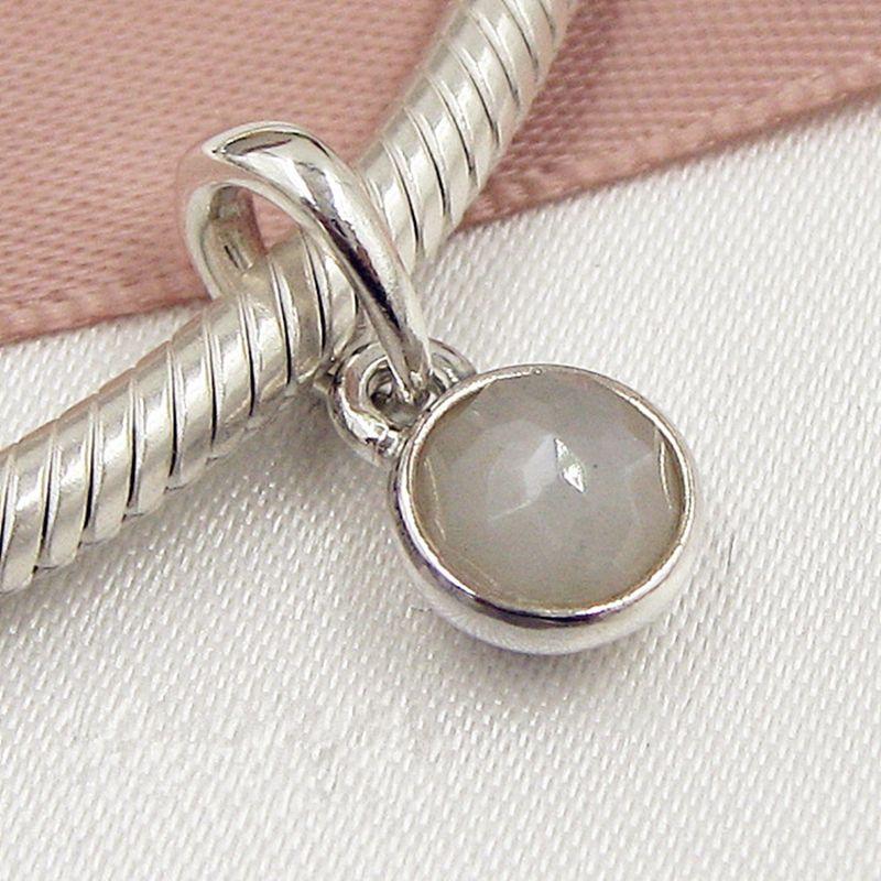 2017 primavera argento sterling 925 novembre gocciolina ciondola il branello di fascino con ciondolo citrino adatto braccialetti europei gioielli pandora