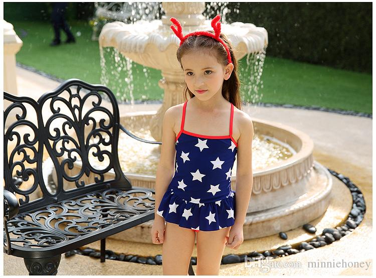 565ea8a9f1d61 2019 Highly Elastic Comfortable Swimsuit Cute Baby Star Skirt Swimsuit One  Piece Strap Swimwear With Cap Hot Sale From Minniehoney, $24.22 | DHgate.Com