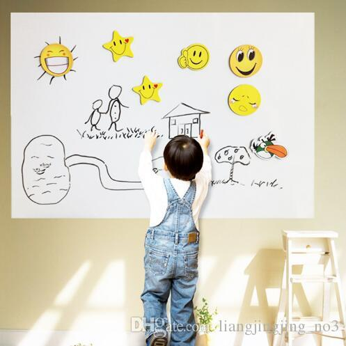 45200cm pvc whiteboard wall stickers vinyl removable diy white board sticker for kids with marker pen with retail package cca7255 removable wall sticker - Diy Entfernbarer Backsplash