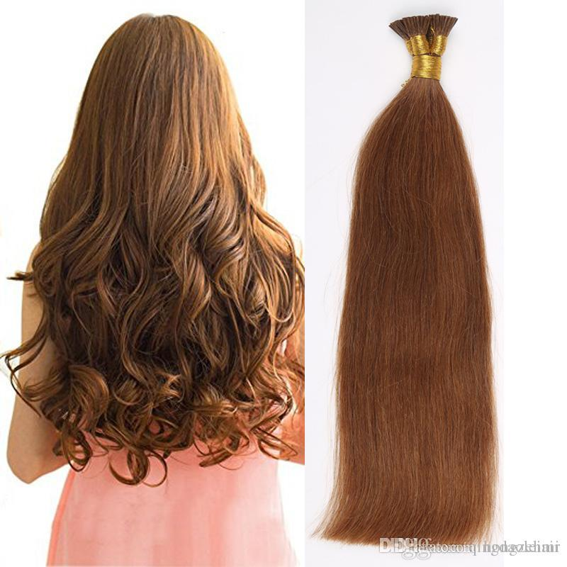 I Tip Pre Bonded Straight Brazilian Hair Extensions I Tip Human Hair