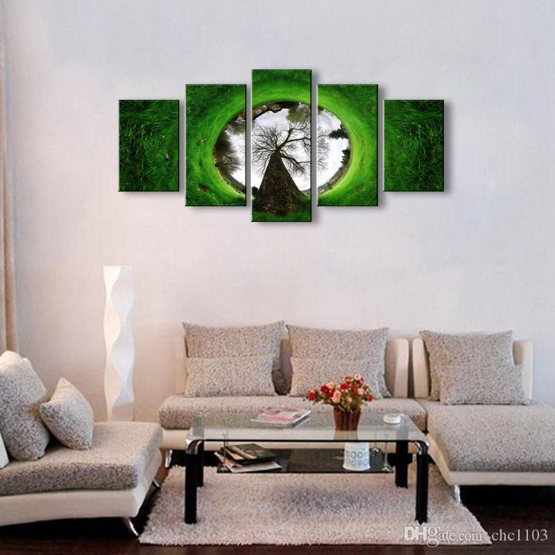 5 Panel abstract Painting Canvas Wall Art Picture Home Decoration Living Room Canvas Print Modern Painting--Large Canvas Art Cheap SD-006