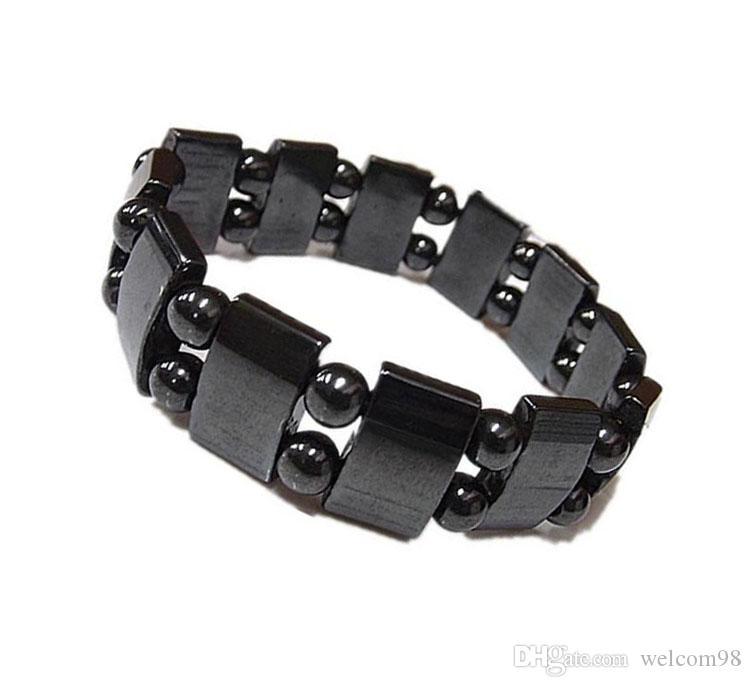 10 sztuk / partia Czarne Magnetyczne Zdrowe Bransoletki Zroszony Nici 8 Inch Dla DIY Craft Moda Biżuteria Prezent M22