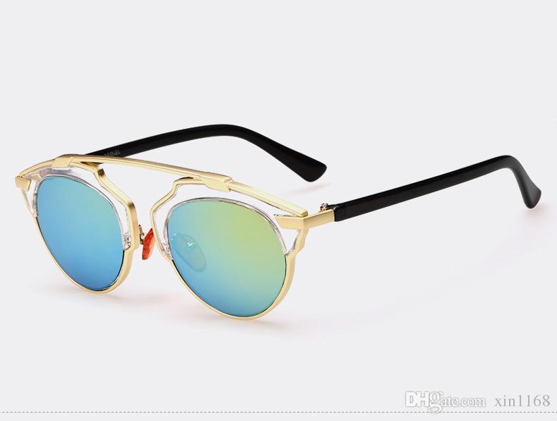 Nuevas gafas de sol deslumbrantes de moda de moda torcer personalidad individual mujeres gafas de sol retro polarizadas de cuidado