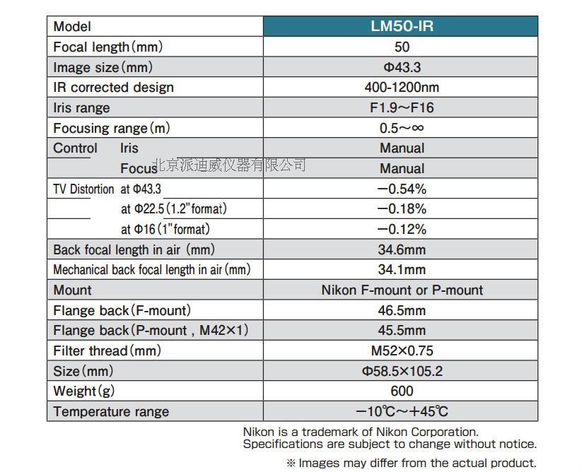 Lente objetiva do microscópio da lente de kowa LM50-IR