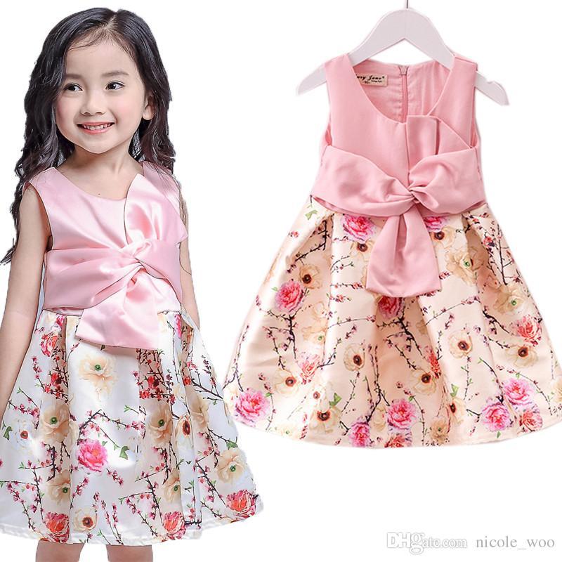 Compre Vestido De Alta Calidad Matrimonio Niñas Lindo Vestido Rosa ...