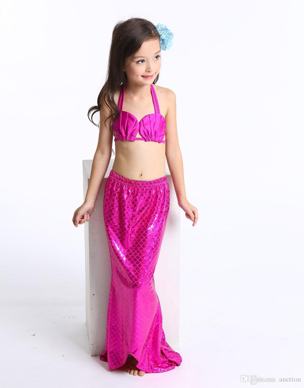43e93570bdf7 Acquista 2016 Costume Da Bagno A Sirena Bambini Beach Costumi Da Bagno  Bambini Neonate Nuoto Bikini Bambino Biquini Tre Pezzi Bikini A $9.14 Dal  Auction ...