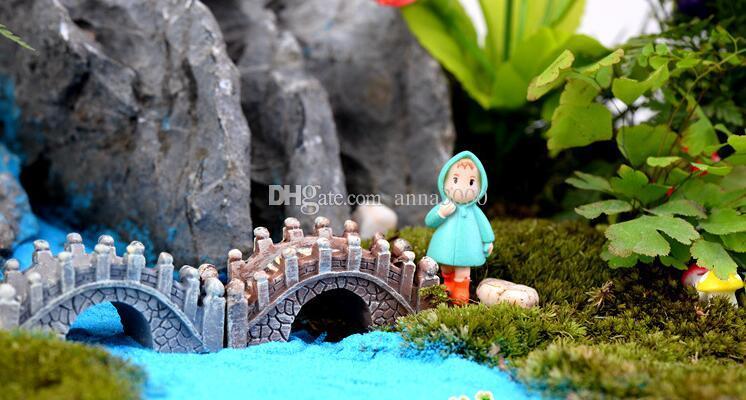 Résine Mini Pont Miniature Paysage Fée Jardin Mousse Terrarium Décoration Outil Jardin Artisanat DHL Livraison Gratuite