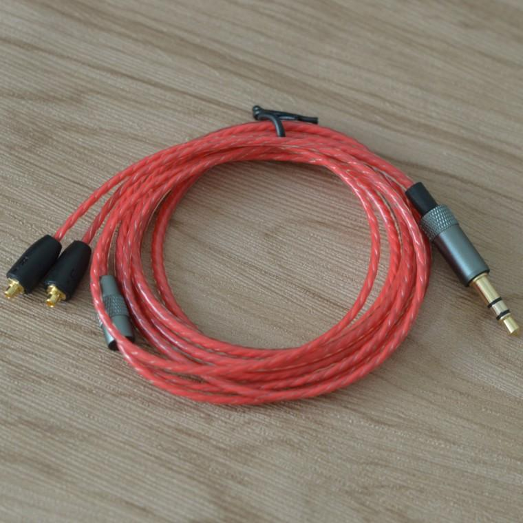 130cm DIY Replacement 3.5mm Audio MMCX Plug Cable Repair Headset Headphone 4 NOFC Earphone For SE215 SE535 SE846 UE900 DHL Free