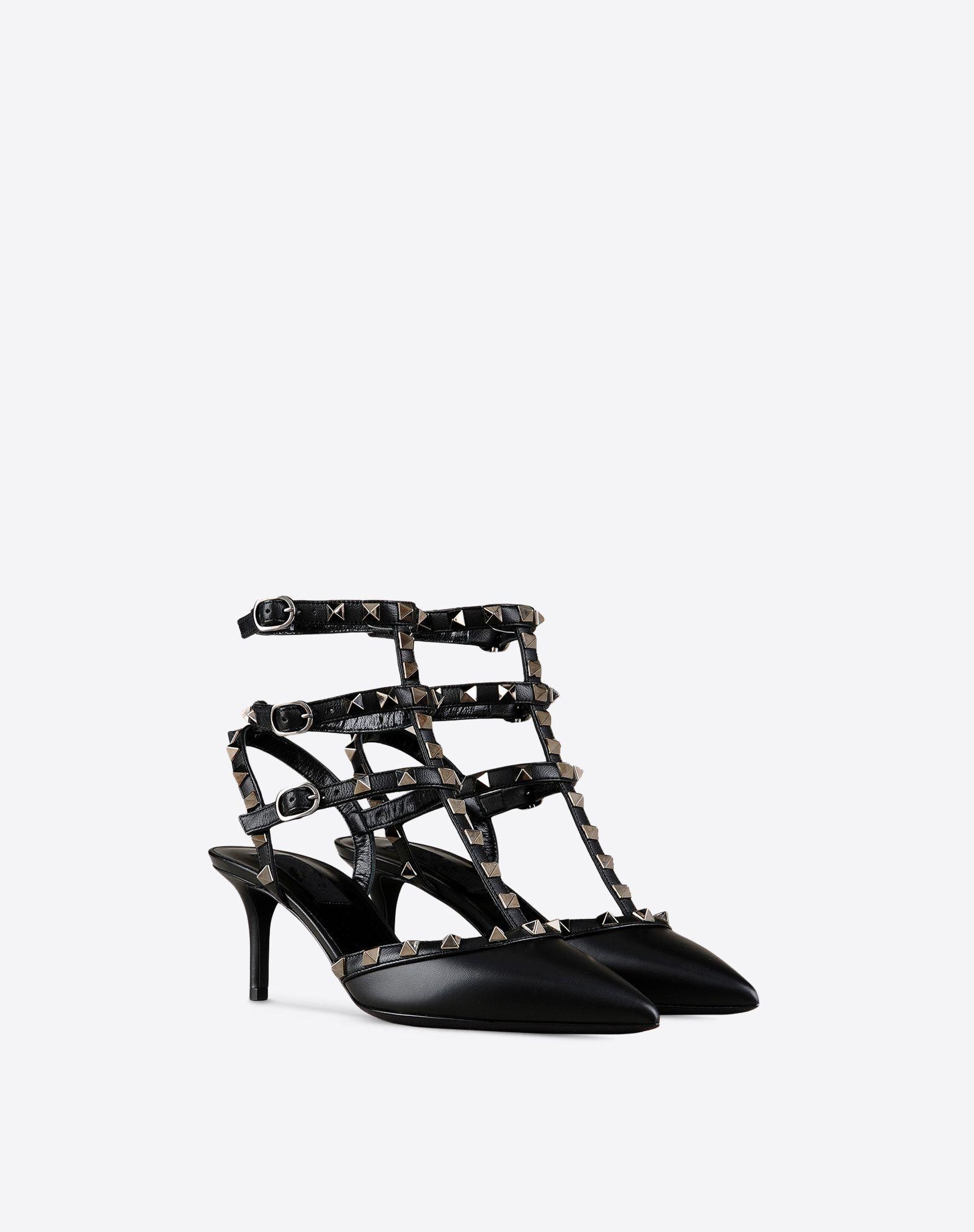 Zandina Women Handmade Fashion 65mm Mid Heel Shoes A punta con borchie a tre cinghie Party Dress Pompe da ufficio