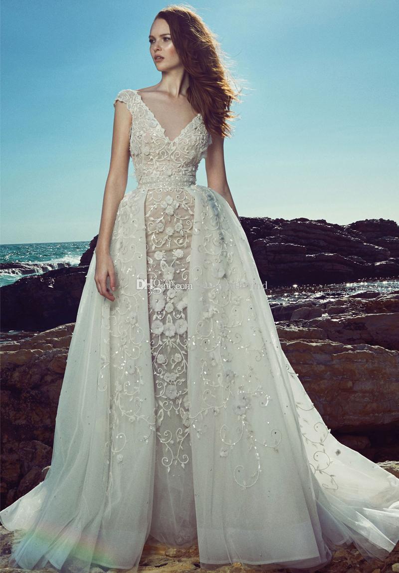 Discount datchable train wedding dresses 2017 zuhair murad for Cheap wedding dresses in dubai