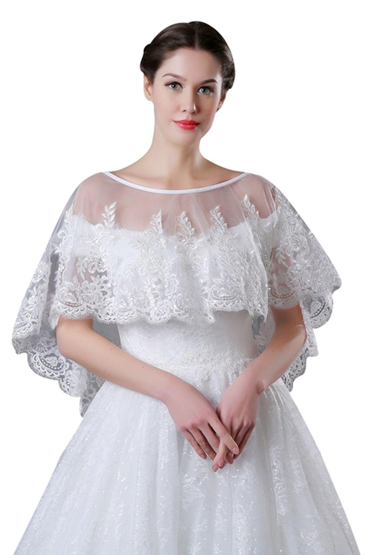 Lace Bolero for Brides Half Long Sleeves Appliques Beaded Short Jacket Wedding Wraps Shawl Cheap CPA969